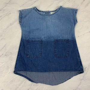 Adriano Goldschmied Blue Two Toned Chambray Dress
